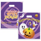 Full Color Purple Plastic Halloween Treat Bag