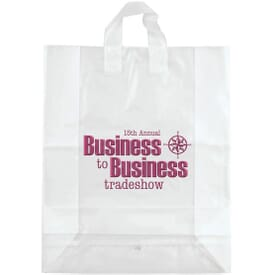 "Frosted Shopping Plastic Bag 16"" x 19"" x 6"""