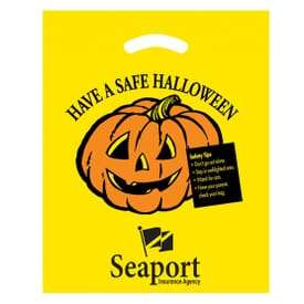 Trick or Treat Plastic Bags Yellow