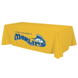 8ft Standard Table Throw - Two Color Thermal Imprint