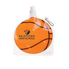 HydroPouch!™ 24 oz. Packable Bottle -Basketball