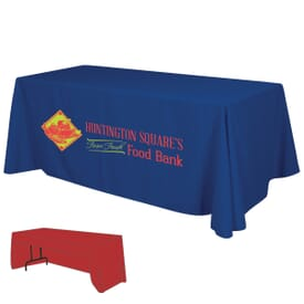 6ft Economy 3-Sided Table Throw - Two Color Thermal Imprint