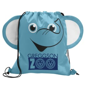 Paws 'N Claws Drawstring Backpack – Elephant