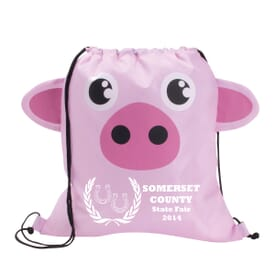 Paws 'N Claws Drawstring Backpack – Pig
