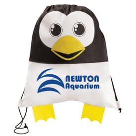 Paws 'N Claws Drawstring Backpack – Penguin