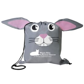 Paws 'N Claws Drawstring Backpack – Bunny
