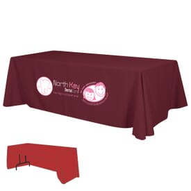 8ft Economy 3-Sided Table Throw - Two Color Thermal Imprint