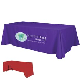 8ft Economy 3-Sided Table Throw - Full Color Thermal Front