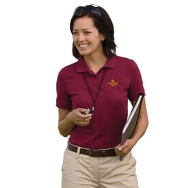Harriton Ringspun Piqué Polo – Ladies'