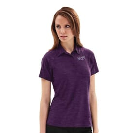 Barcode Stretch Perf Polo-Ladies'