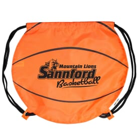 Game Time!® Drawstring Backpack -Basketball