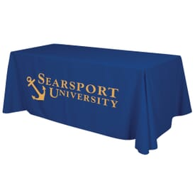 6ft Standard Table Throw - One Color Thermal Imprint