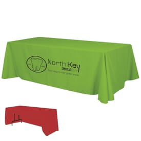 8ft Economy 3-Sided Table Throw - One Color Thermal Imprint