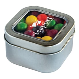 Square Candy Tin- Skittles®