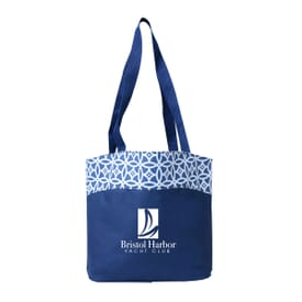 Printed Accent Tote