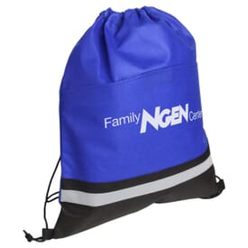 Safety Stripe Drawstring Backpack