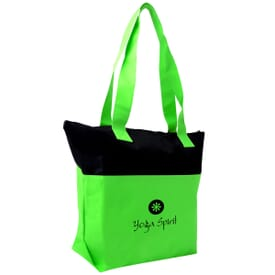 Dual Accent Zippered Tote