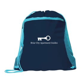 Dynamic Duo Drawstring Bag
