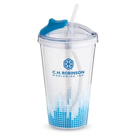 16 oz Viz Color Tide Straw Tumbler