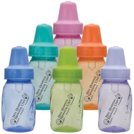 4 oz. Colored Evenflo Baby Bottles