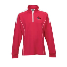 Men's Mesh Knit Polyester 1/4 Zip Pullover