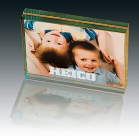 Glass Chamber Desk Photo Frame