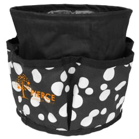 Round Printed Utility Tote With Pockets