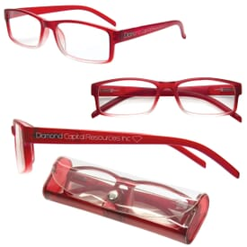 Soft Touch Reading Glasses W/Matching Case