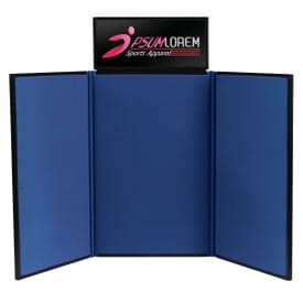 4' Standing Trifold Display Board With Header