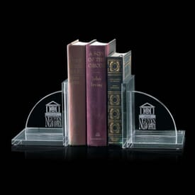 Crystal Support Book Ends