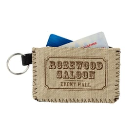 ON SALE-Burlap-Neoprene Card Guard