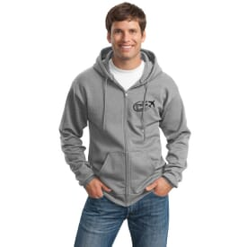 Port & Company® Ultimate Full-Zip Hooded Sweatshirt
