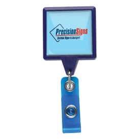 Dome Style Oversized Rectangle Badge Reel