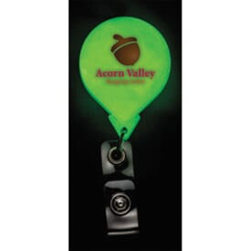 Round Bright Glow Badge Reel