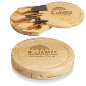 Round Cheese Board Set
