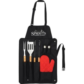 BBQ Now Apron And 3 Piece BBQ Set