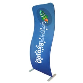 3' X 8' 2-Sided Curved Banner Stand Kit