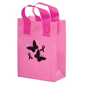 Large Pink Plastic Shopper