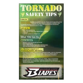 "3 1/2"" X 6"" Tornado Safety Tips Mega-Mags™ Magnet"