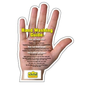"4 1/2"" X 6"" Mega-Mag™ Shapes ""Hand Washing Tips"" Magnet"