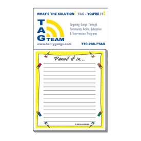 "3 1/2"" X 6 1/4"" Business Card Add-On™ Magnet + Small Pad- Pencil It In"
