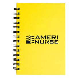 "ON SALE-5"" X 7"" Colored Paper Spiral Notebook"