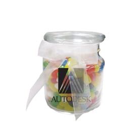 Jelly Bean Candies Glass Jar