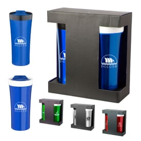 Double Stainless Tumbler Set