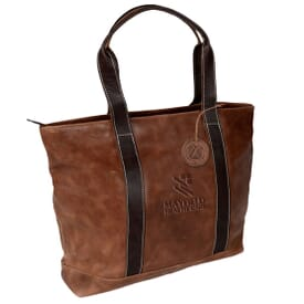 Stiched Accents Leather Tote
