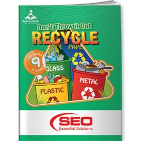 Don't Throw It Out, Recycle - Play Book & Stickers