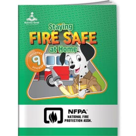 Stay Fire Safe At Home Activity Book & Stickers