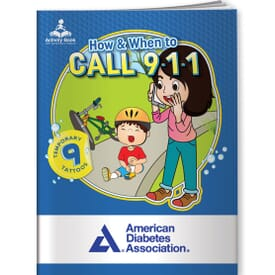 How & When To Call 911-Activity Book&Temporary Tattoos