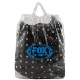 "12"" x 12"" x 6"" 2.5 mil LDPE Clear Soft Loop Handle Bag"