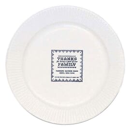 White Round Paper Plate - 7""